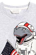 T-shirt with Printed Design - Light grey/Dinosaur - Kids | H&M CA 3