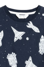 T-shirt with Printed Design - Dark blue/Space - Kids | H&M CA 3