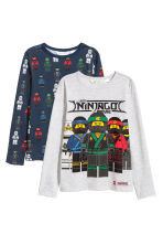 2件入平紋上衣 - Light grey/Ninjago -  | H&M 1