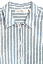 Airy cotton shirt - White/Blue striped - Ladies | H&M IE 3