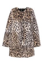 Cappotto in finta pelliccia - Beige/leopardato - DONNA | H&M IT 2