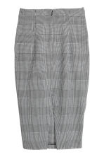 Dogtooth-patterned skirt - White/Dogtooth - Ladies | H&M CN 3