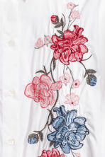 Shirt with flared sleeves - White/Flowers - Ladies | H&M CA 3
