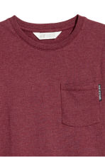 單胸袋T恤 - Burgundy marl - Kids | H&M 3