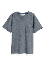 T-shirt with a chest pocket - Dark blue marl - Kids | H&M 2