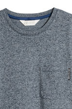 T-shirt with a chest pocket - Dark blue marl - Kids | H&M 3