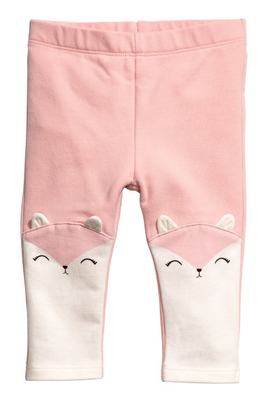 Jersey leggings - Light pink/Animals -  | H&M 1
