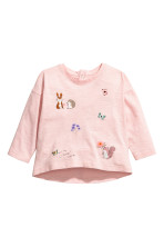 Light pink/Forest animals
