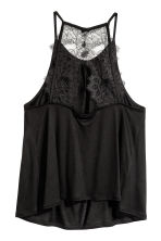 Lace-back top - Black - Ladies | H&M CA 3