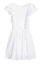 Dress with broderie anglaise - White - Ladies | H&M CN 2