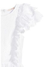 Dress with broderie anglaise - White -  | H&M 3