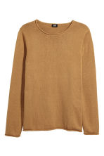 Fine-knit cotton jumper - Mustard yellow - Men | H&M CN 2