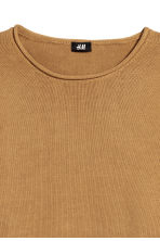 Fine-knit cotton jumper - Mustard yellow - Men | H&M CN 3