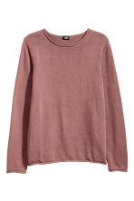 Fine-knit cotton jumper - Dark pink - Men | H&M 2