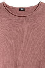 Fine-knit cotton jumper - Dark pink - Men | H&M 3