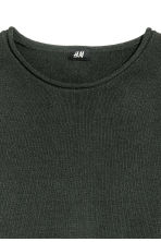 Fine-knit cotton jumper - Dark green - Men | H&M 3