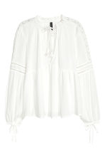 Crinkled blouse - White - Ladies | H&M 2