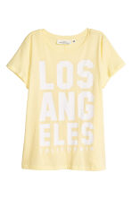 Jersey top - Light yellow/Los Angeles - Ladies | H&M 2