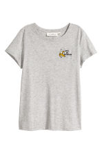 Jersey top - Grey/Bananas - Ladies | H&M CN 2