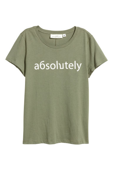 Jersey top - Khaki green/Absolutely - Ladies | H&M IE 1