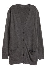 Wool-blend cardigan - Dark grey - Ladies | H&M 2