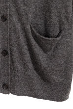 Wool-blend cardigan - Dark grey - Ladies | H&M 3