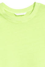 Cotton T-shirt - Lime green - Ladies | H&M CA 3