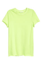 Cotton T-shirt - Lime green - Ladies | H&M CA 2