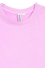 Cotton T-shirt - Lilac - Ladies | H&M CA 3