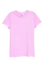 Cotton T-shirt - Lilac - Ladies | H&M CA 2