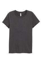 Cotton T-shirt - Black - Ladies | H&M 1