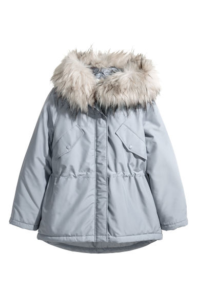 Padded parka - Light grey - Ladies | H&M CN 1