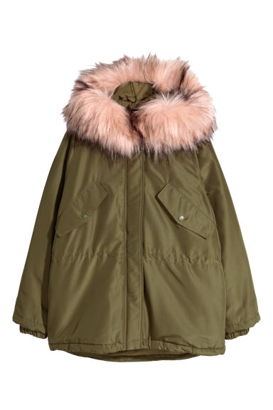 Padded parka - Khaki green - Ladies | H&M