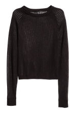Ribbed jumper - Black - Ladies | H&M 2