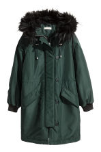 Padded parka - Dark green - Ladies | H&M 2