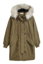 Padded parka - Khaki green - Ladies | H&M IE 2