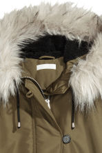Padded parka - Khaki green - Ladies | H&M 3