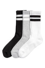 3-pack socks - White/Black - Ladies | H&M CN 1