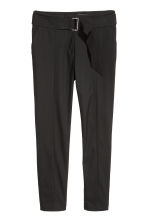 Trousers with a belt - Black - Ladies | H&M CN 2