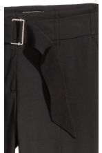 Trousers with a belt - Black - Ladies | H&M CN 4