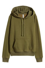 Hooded top - Khaki green - Ladies | H&M 2