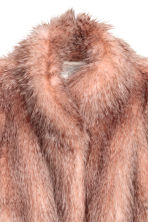 Short faux fur coat - Powder pink/Grey - Ladies | H&M 3