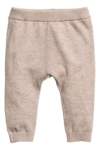Cashmere trousers - Light beige - Kids | H&M CN