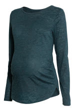 MAMA Long-sleeved jersey top - Petrol - Ladies | H&M CN 2