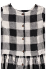 Plaid Dress - White/black plaid - Kids | H&M CA 2