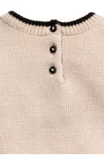 Ribbed wool jumper - Light beige -  | H&M 2