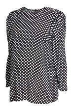 MAMA Patterned blouse - Black/Spotted - Ladies | H&M CN 2