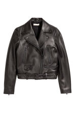 Leather Biker Jacket - Black - Ladies | H&M CA 2