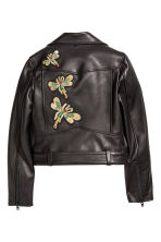 Leather Biker Jacket - Black - Ladies | H&M CA 3