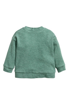 Camisola sweat encrespada